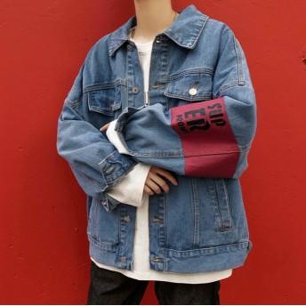 デニムジャケット カジュアル風 メンズジージャン デニムジャケット ヴィンテージ Gジャン【送料無料】Y-4
