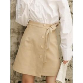 巻きスカート ミニスカート ラップスカート スカート リボン ウエストリボン スカート ミニタイトスカート 黒スカート スカート 黒 ベー