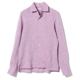 ERRICO FORMICOLA / リネン ソリッド オープンカラーシャツ メンズ カジュアルシャツ LAVENDER/114 39