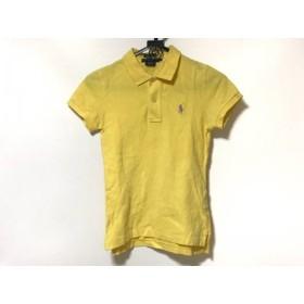 【中古】 ラルフローレン RalphLauren 半袖ポロシャツ サイズXS レディース イエロー