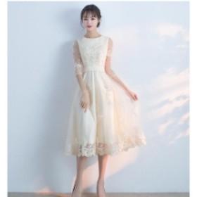 結婚式 披露宴 二次會 パーティードレスウェディングドレス 二次會 ドレス花嫁 Y004