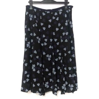 【中古】 ソニアリキエル スカート サイズ46 XL レディース 黒 ネイビー ライトブルー ハート