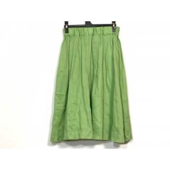 【中古】 サクラ SACRA ロングスカート サイズ38 M レディース 美品 ライトグリーン