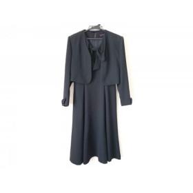 【中古】 ユキトリイ YUKITORII ワンピーススーツ サイズ9 M レディース 黒 リボン