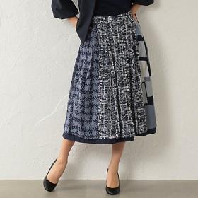 AMACA×STORY コラボ ミックスチェックリバー スカート V5S30164