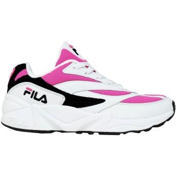 《セール開催中》FILA レディース スニーカー&テニスシューズ(ローカット) フューシャ 36 革 / 紡績繊維 V94M low wmn