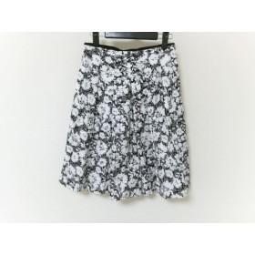 【中古】 ニジュウサンク 23区 スカート レディース 美品 白 黒