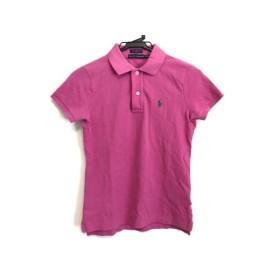 【中古】 ラルフローレン RalphLauren 半袖ポロシャツ サイズXS レディース ピンク