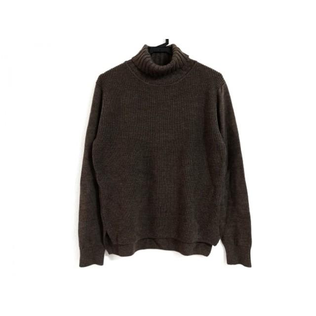 【中古】 ランバンコレクション 長袖セーター サイズ48 L メンズ ダークブラウン タートルネック