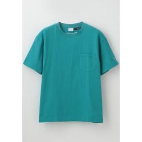 LOVELESS 【Champion】WOMEN 別注ビッグシルエットエンブロイダリーポケットTシャツ Tシャツ・カットソー,ブルー2
