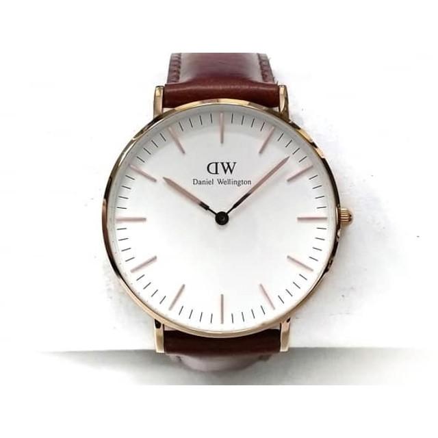 3b9a2c2a4e7f 【中古】 ダニエルウェリントン Daniel Wellington 腕時計 B36R9 メンズ 革ベルト 白