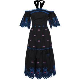《セール開催中》TEMPERLEY LONDON レディース 7分丈ワンピース・ドレス ブラック 6 コットン 100%