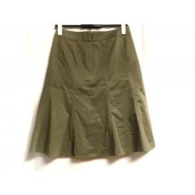 【中古】 バーバリーロンドン Burberry LONDON スカート サイズ38 L レディース カーキ