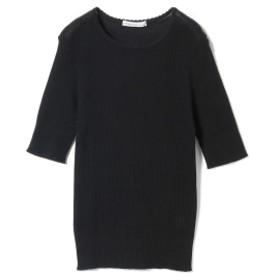 Adriana Kay / 5分袖 サーマルTシャツ レディース Tシャツ BLACK ONE SIZE