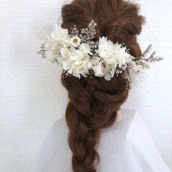 NO.134 可憐な髪飾り ホワイトヘッドドレス