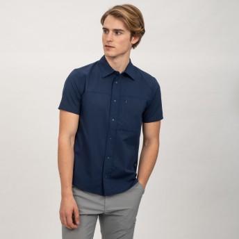 AIGLE メンズ メンズ ドットエアハイク 半袖シャツ ZCH037J DARK NAVY (075) シャツ・ポロシャツ