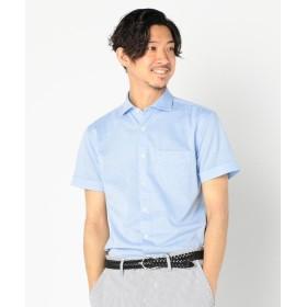 【32%OFF】 ノーリーズ TCカノコ半袖カッタウェイシャツ メンズ ライトブルー M 【NOLLEY'S】 【セール開催中】