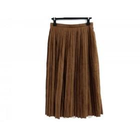 【中古】 トゥモローランド TOMORROWLAND スカート サイズ34 S レディース ブラウン プリーツ