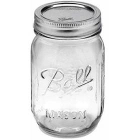 正規品 メイソンジャー Ball Mason jar 16oz 2個セット レギュラーマウス オリジナル クリア mason1 約480ml P04Jul15