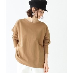 Demi-Luxe BEAMS / 天竺ロングスリーブ ビッグTシャツ レディース カットソー CAMEL ONE SIZE