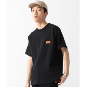 UNIVERSAL OVERALL × BEAMS / 別注 ワッペン Tシャツ メンズ Tシャツ BLACK S