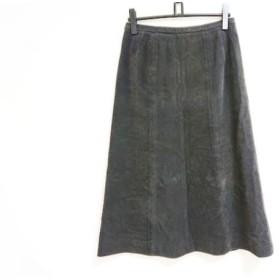 【中古】 レリアン Leilian スカート サイズ13 L レディース ダークブラウン