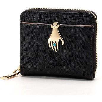 [マルイ] ハンドモチーフ ブローチ付きラウンドジップ二つ折り財布/スパイラルガール(バッグ&ウォレット)(SPIRALGIRL)