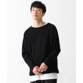 BEAMS / ダブルフェイス レイヤード Tシャツ メンズ Tシャツ BLACK L
