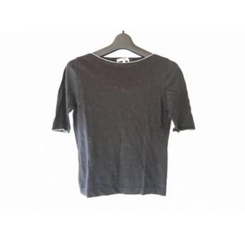 【中古】 ニジュウサンク 23区 半袖セーター サイズ38 M レディース 黒 白