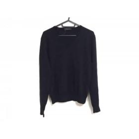 【中古】 プラダ PRADA 長袖セーター サイズ46 S メンズ ダークネイビー