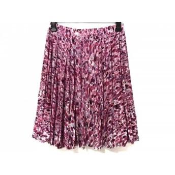 【中古】 マッシュマニア mash mania スカート サイズM レディース 美品 ピンク 白 マルチ