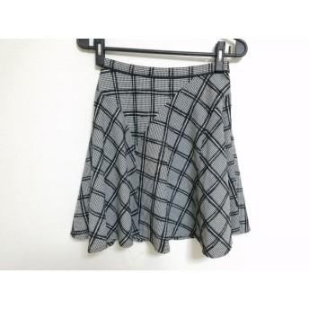 【中古】 ジャスグリッティー JUSGLITTY スカート サイズ1 S レディース 黒 白
