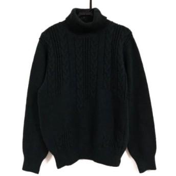 【中古】 ランバンコレクション 長袖セーター サイズM メンズ ダークグリーン タートルネック