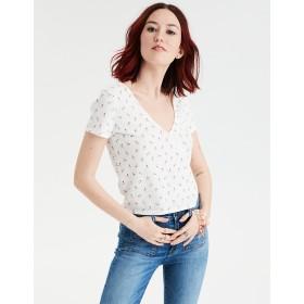 【アメリカンイーグル】AEショートスリーブラップフロントTシャツ