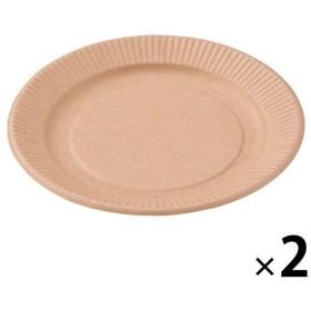 ストリックスデザイン ペーパープレート 未晒し 18cm 2袋(50枚入×2)