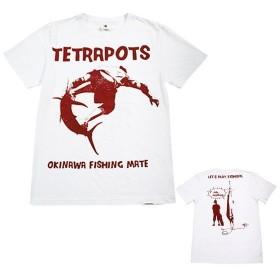 【メール便送料無料】テトラポッツ フィッシュライド 半袖Tシャツ TPT-015 ホワイト M 【代引は送料別途】