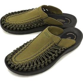 キーン KEEN メンズ ユニーク スライド MEN UNEEK SLIDE サンダル 靴 Dark Olive/Black  1020802 SS19