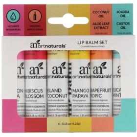 Lip Balm Set, 6 Lip Balms, 0.15 oz (4.25 g) Each