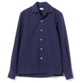 ERRICO FORMICOLA / シアサッカーストライプ オープンカラーシャツ メンズ カジュアルシャツ NAVY/B2 41
