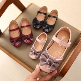 f689f264f89d0 子供靴 キッズフォーマルシューズ 女の子 ラウンドトゥ ぺたんこ ローヒール キッズシューズ 歩きやすい 滑りにくい