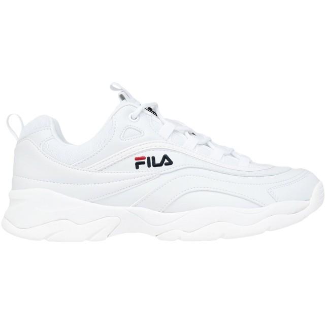 《期間限定セール開催中!》FILA メンズ スニーカー&テニスシューズ(ローカット) ホワイト 41 紡績繊維 Ray low