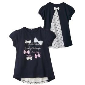 後切替リボン付Tシャツ(女の子 子供服) Tシャツ・カットソー