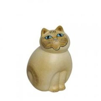 リサ・ラーソン 置物 猫 ねこ(リサラーソン)キャットミア ミディアム(中) ホワイト 動物 LisaLarson(Lisa Larson)Mia Cat(Cats Mia)Midi 1150204 顔ブラウン