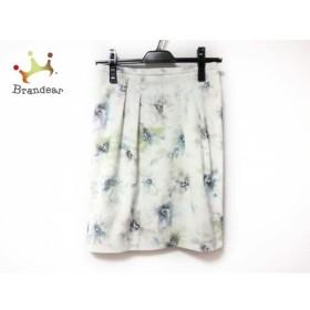 ジャスグリッティー スカート サイズ1 S レディース 美品 白×ブルー×ライトグリーン 花柄     スペシャル特価 20190803
