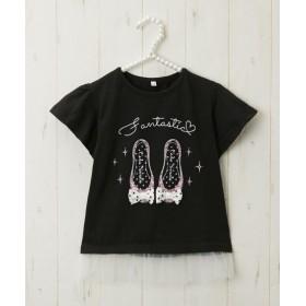 裾チュール切替Tシャツ(女の子 子供服) Tシャツ・カットソー
