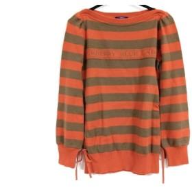 【中古】 バーバリーブルーレーベル 長袖セーター サイズ38 M レディース オレンジ ブラウン