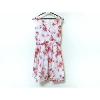 【中古】 チェリーアン CHERRY ANN ワンピース レディース 白 ピンク グリーン 花柄