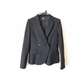 【中古】 ダナキャラン DKNY ジャケット サイズ6 M レディース 黒 肩パッド