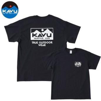 カブー KAVU Ms トゥルーロゴTシャツ ブラック