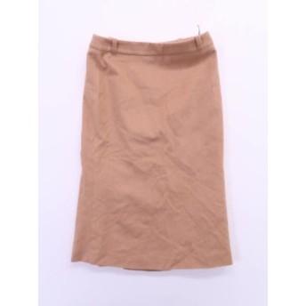 MaxMara(マックスマーラ)Iラインスカート ベージュ レディース Aランク 38